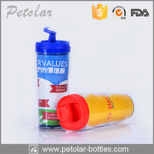 Beverageware insulated double wall plastic bottle water bottle hard plastic bottle