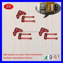 De Color contra la oxidación caja de aluminio, Rojo y amarillo AL cnc fresado de piezas, Dibujo de aluminio cnc mecanizado de partes
