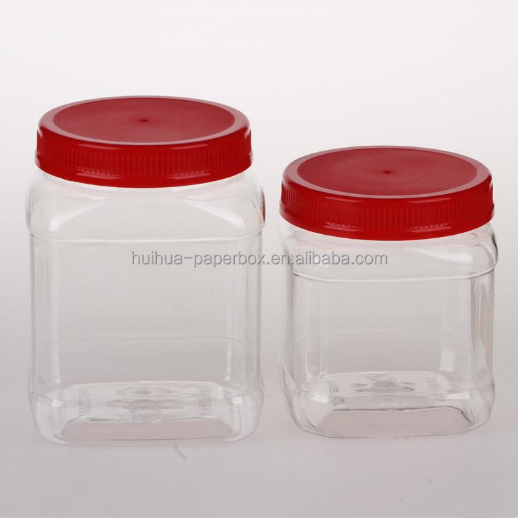 660 ml carr en plastique emballage pot pour les cookies for Bocal plastique poisson