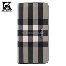 SK-L0157 Top sale western branded Lattice pattern unisex wallets