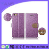 Luxury Promotional PU Leather Diamond Bling Flip Cover Mobile Phone Case