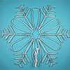 Christmas snowflake ornaments/metal snowflake GuZhen factory for metal snowflake ornaments decorative