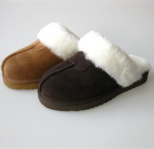 100% Australia genuine sheepskin women slipper