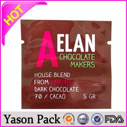 Yason heat up chicken side gusset aluminum foil bag with valve supermarket cart bag