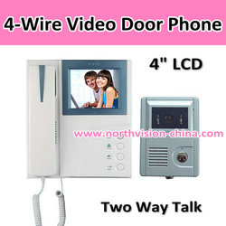 4 inch TFT monitor wireless video door phone with different ring tones for choice