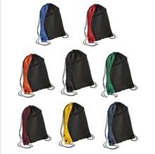 Black Wholesale Brown Nylon Cotton Unisex Drawstring Bag