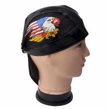 faux leather head wrap du doo do rag hats DC-18