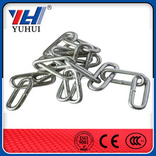 chain link animal kennel lowes, bright galvanized steel link chain,din 763 steel chain link(FACTORY)