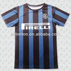 custom sublimada preto e azul tiras de camisetas de futebol americano