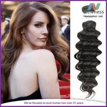 Free Sample 24 Inch Remy Human Hair Unprocessed European Hair Weaving Deep Wave