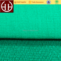 Fasion green 32s cotton + 20s CVC brushed cotton french terry fleece fabric