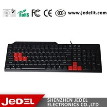 Últimas barato USB <span class=keywords><strong>teclado</strong></span> de la computadora con color teclas
