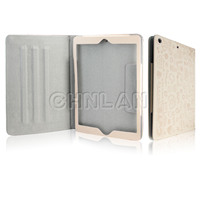 Smart tablet cover with cartoon pattern pu leather case for ipad air