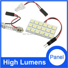 Easy to Install 5050 led panel light 18SMD Car roof Bulb