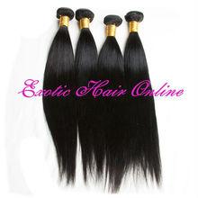 Exotichair braided ponytails virgin hair weft