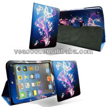 """Blue Butterfly Flip Leather Case Cover For iPad Mini 7""""tablet"""