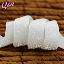 """White Stretch glitter elastic 3/8"""" and 5/8"""" available"""