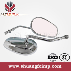 SF103 universal aluminum chrome convex rearview mirrors motorcycle,harley mirrors for sale