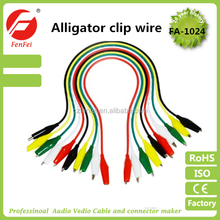 Jumper test lead set 10 paris small/medium/large alligator clips w/10 wires (5 colors)