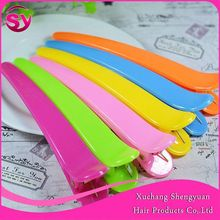 Salon Plastic Hair Pick Beautiful Butterfly Clip, High Quality Colored Hair Pin