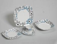 square Retro Antique Dinnerware Set/holiday Ceramic Dinnerware Set