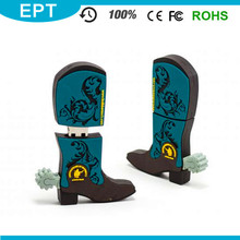 Exquisited Customized Knight Shoes Shaped PVC Pendrive USB