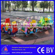 Attractive Cartoon Design theme park children rides train track / model train track
