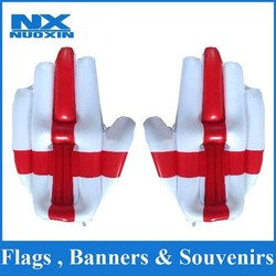 2015 latest 40x50cm PVC customized inflatable hand England flag inflatable hand