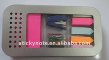 2012 creative stationery set sticky notepad/sticky memo pad with metal holder