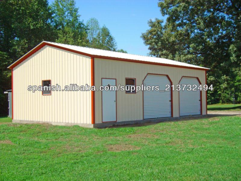 garajes y cobertizos met licos prefabricados