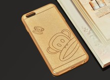 Hot Sale Ultra-Thin TPU Cell Phone Case for iphone 6,Cartoon Glitter Soft Cover Case for iphone 6 plus