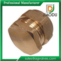 New brass plumbing compression fitting stop end caps 15mm or 20mm or 22mm or 26mm suitable for gas water oil