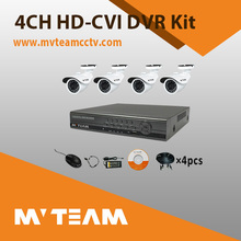 4ch HD CCTV DVR kit 720P bullet CVI camera DVR full security system