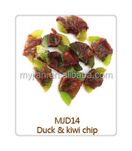 duck and kiwi chip for tasty dry dog food pet treat puppy chewing items