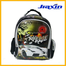 fashion car race special design boys backpack school bag
