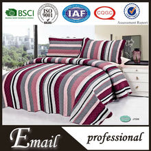 Indian colourful stripe wave border competitive price polyester bed sheet/quilt
