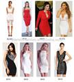 2015 vestido mais recentes modelos de fotos dropship bandage dress atacado