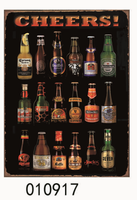 2015 Newest Wholesale metal beer drink tin sign tinplate for night club wall decor