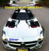 Silver chrome vinyl, Car Wrap, car wrap vinyl, Car Sticker Vinyl 1.52X30m Air Bubbles Free