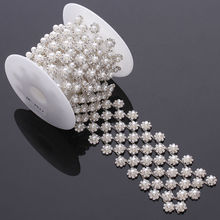 New style crystal plastic wholesale pearl and rhinestone trimming for dresses