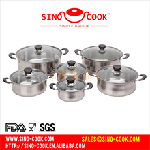 6 Pcs Non-stick Cookware Sets&New Stainless Steel Kitchenware