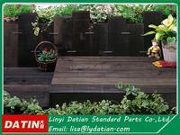 wooden fence for villa ,wooden flower bed ,wooden sleeper