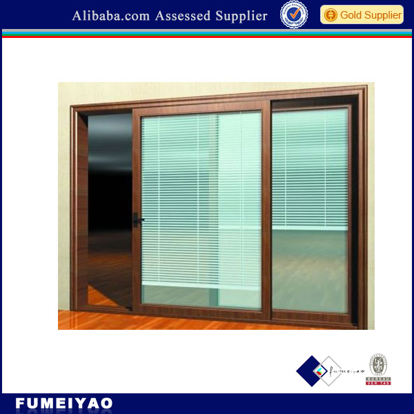 Aluminium windows with built in blinds inside double glass for Windows with built in shades