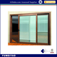 Aluminium Windows with Built in Blinds inside Double Glass with Rolling Up Louvers