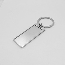 hot sale various shaped custom made blank metal shiny keychain