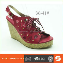 Wholesale woman sandal for 2014 in lazer-cut upper