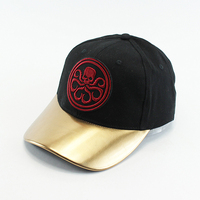 Wholesale athletic cheap korean leather baseball caps with embroidery logo
