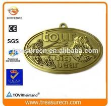 2015 Oval Antique Bronze Plated Custom Engraved Metal Medal/Medallion