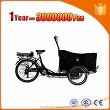 reverse rickshaw tricycle 6 speeds three wheels pedelec cargo bike