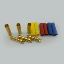RC Car Brushless Motor Accessories 4.0mm Gold Connector Heat-shrinkable Tubing